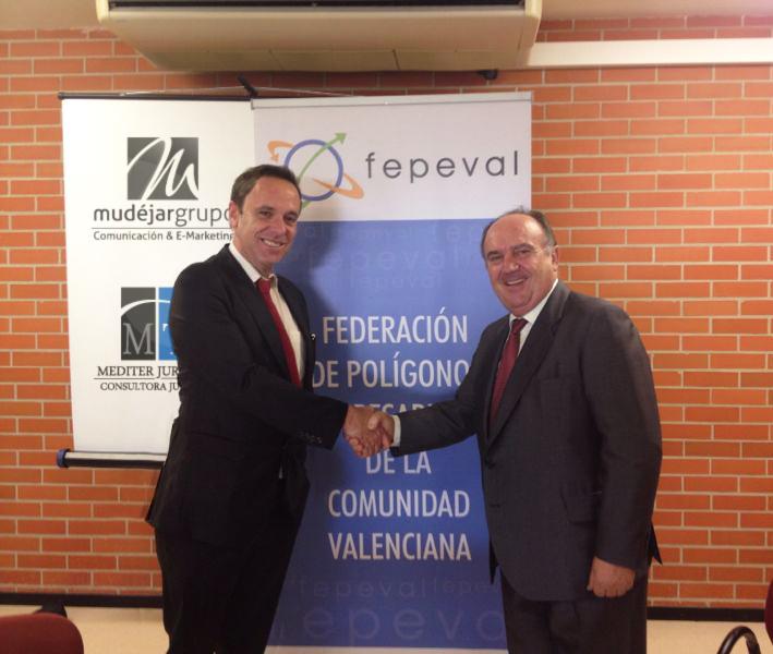 Mudéjar Grupo de Comunicación, firma Convenio con la Federación de Polígonos Empresariales de la Comunidad Valenciana – FEPEVAL