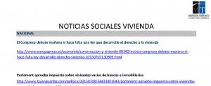 NOTICIAS VIVIENDA SOCIALES