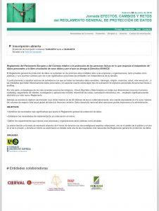 Call for papers - Jornada EFECTOS, CAMBIOS Y RETOSdel REGLAMENTO GENERAL DE PROTECCIÓN DE DATOS