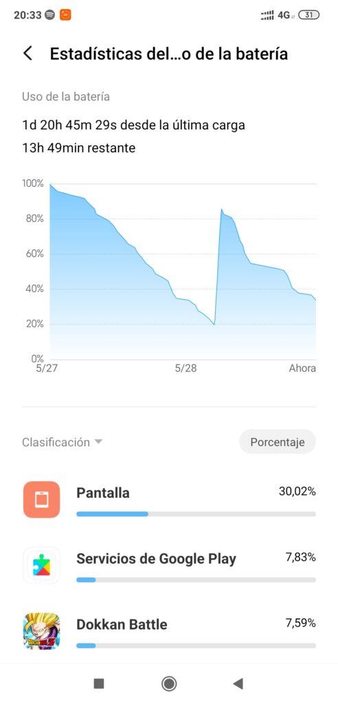 uso de bateria android